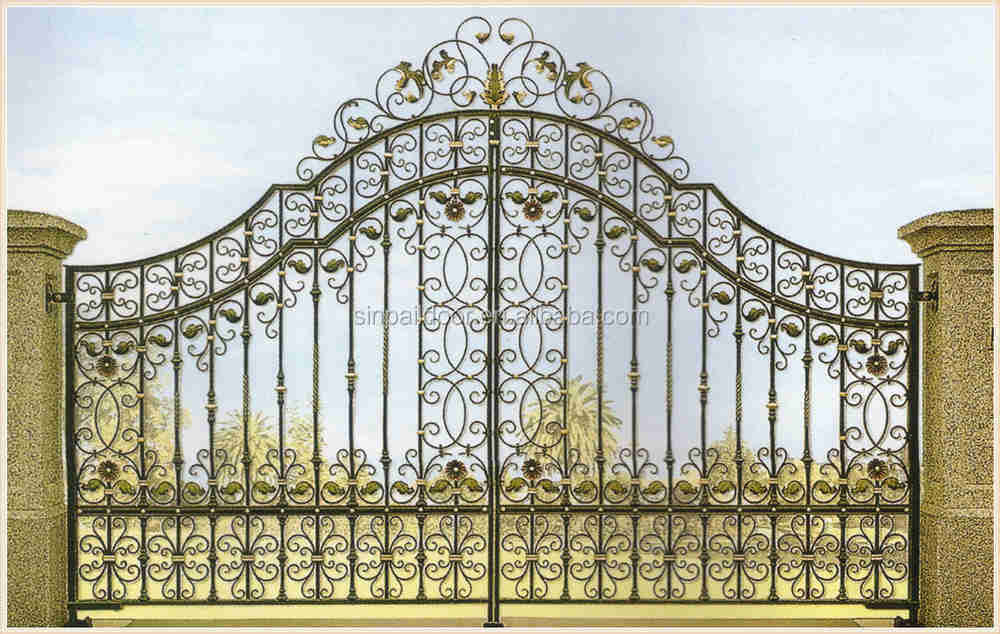 Mexican luxury gates wrought iron exterior main double