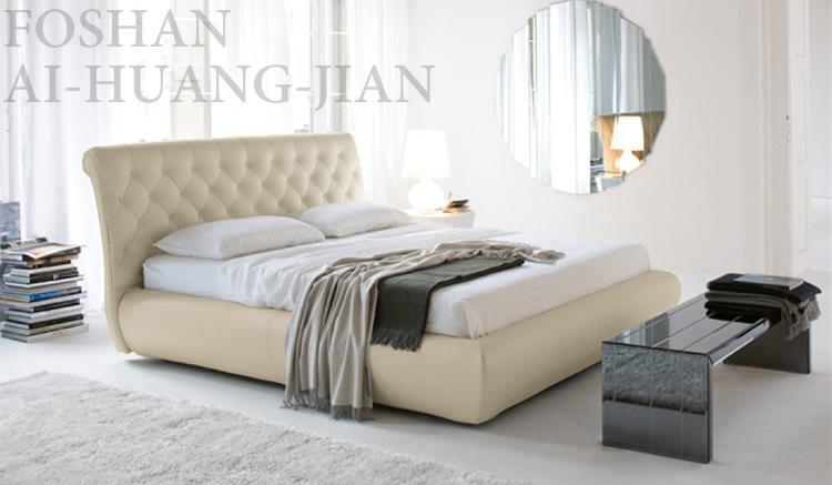 nuevo diseo de la cama de cuero cama cabecero tapizado de cuero cristal de