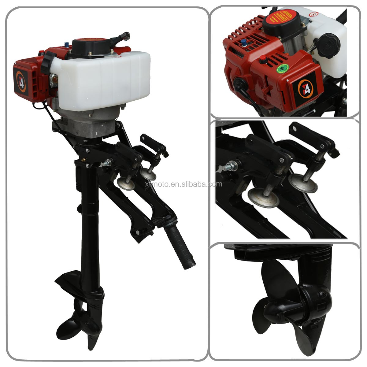 New 4hp two stroke outboard motor boat engine wind cooling for Boat lift motors near me