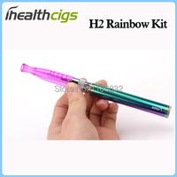 GS-h2 rainbow запустите комплект мини-h2 распылитель 1,5 мл Радуга видение spinner батарея h2 e cigs молния случае 10pcs/lot