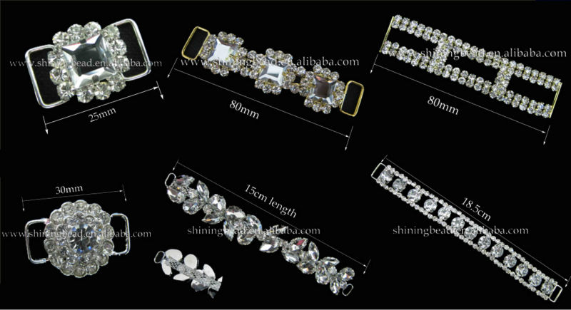 swimwear rhinestone connector