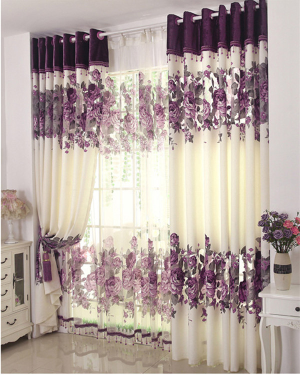 wohnzimmer palme schneiden:Bedroom Window Curtains Purple