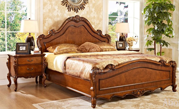 Alibaba Express Cheap 100 Hand Carved Solid Wood Bedroom Furniture