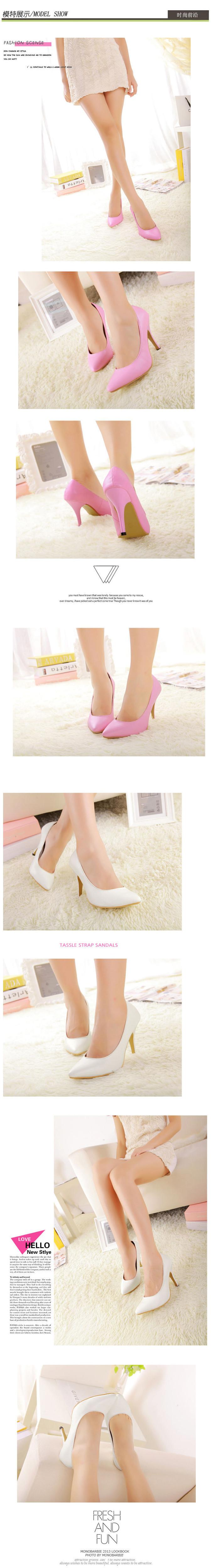 odema новые конфеты розовый/белый насосы дамы указал носок каблуки мелкий рот обувь женщины одного обувь Размер 35-40