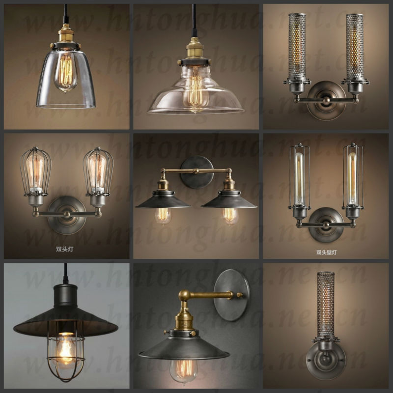 style industrial lamp guard cage ihanging edison bulb light fixture. Black Bedroom Furniture Sets. Home Design Ideas