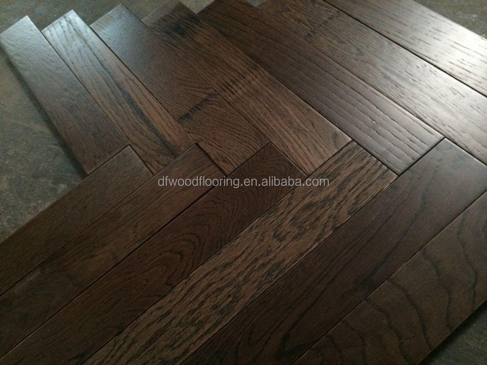 Brushed european oak herringbone parquet engineered wood for Wood flooring companies near me