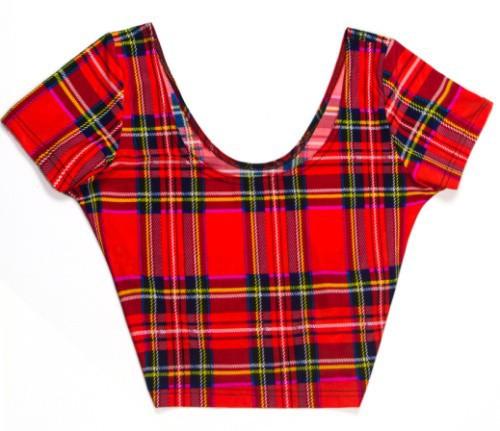 Восток вязание х-102 новый шотландка красный цифровой печать Cap рукавом растениеводство топ лето с коротким футболки сексуальные рубашки