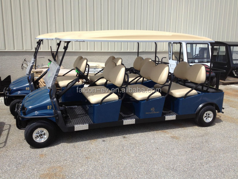 2014 Newest Fashion Style 6 Seater ELECTRIC SOLAR Golf Cart Battery Powered electric car