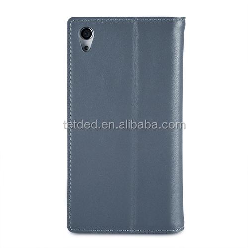 TETDED Premium Leather Case for Sony Xperia Z2 D6502 / D6503 / D6543 -- Gerzat III (Prestige Blue)