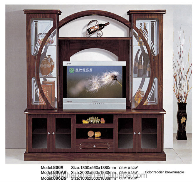 Chinese Factory Wooden Tv Table Tv Cabinet Showcase