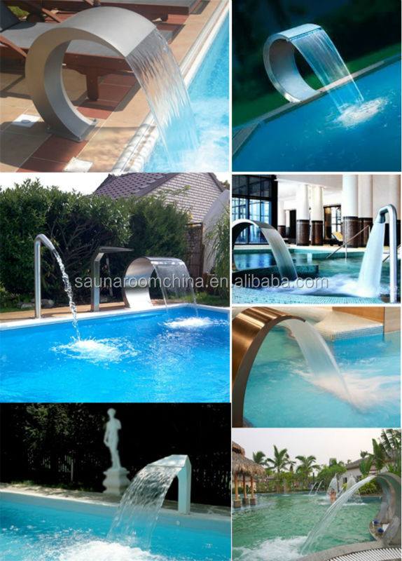 Swimming Pool Spa Nozzle Water Curtain Ornaments Garden Decorative Indoor Water Wall Fountains