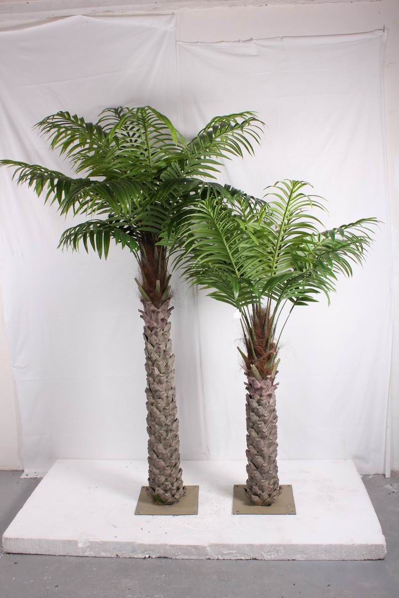 Indoor outdoor artificial fake decor coconut palm tree leaves for Artificial leaves for decoration