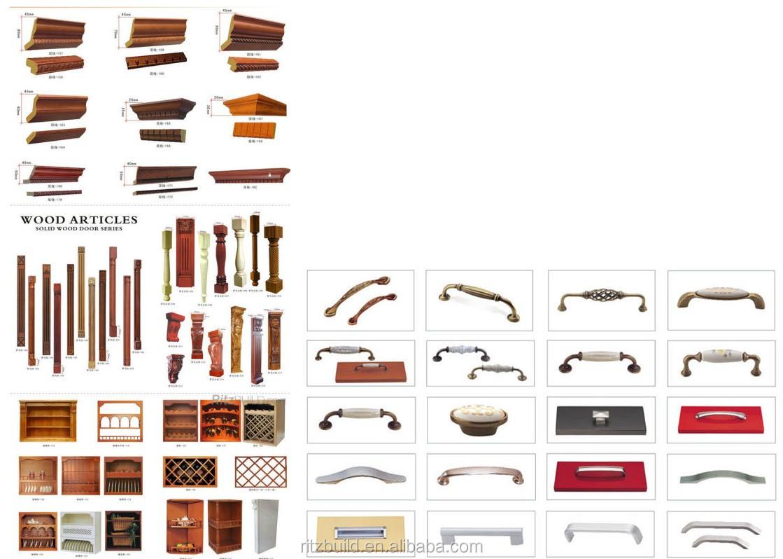 Nature Wood Kitchen Cabinet Simple Style Cherry Wood Kitchen ...
