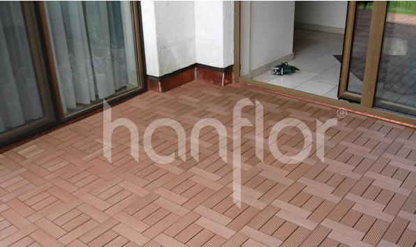 Bloqueio ao ar livre WPC Decking Tile