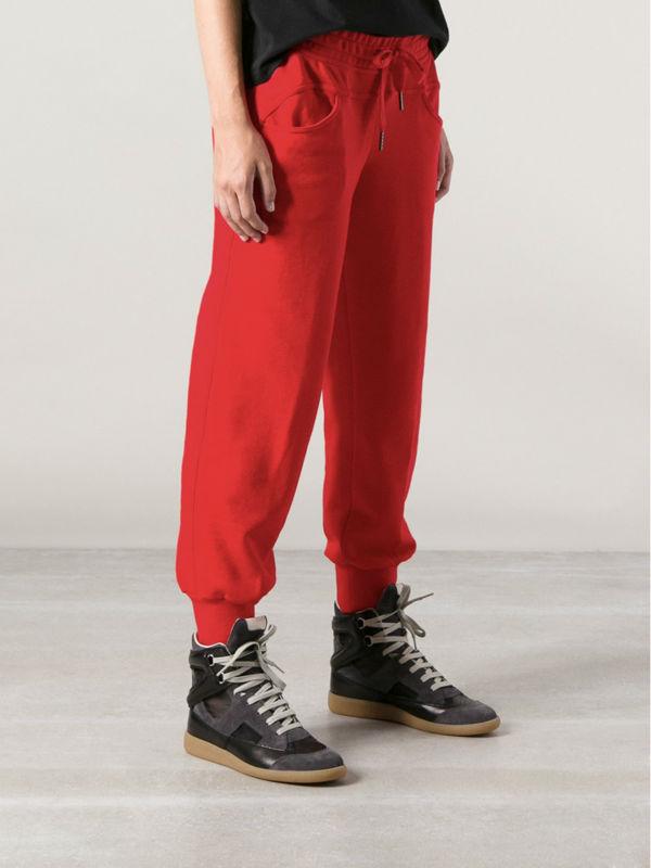 les femmes occasionnels pantalons de loisirs rouge harem danse hip hop long pantalon de. Black Bedroom Furniture Sets. Home Design Ideas