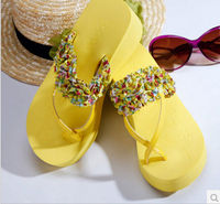 Женские сандалии ladies broken beautiful fashionable flip-flops Summer cool high-heeled slippers
