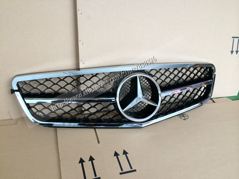 Специализированный магазин W204 SPORT Car Grills for Mercedes BENZ Electroplate Modified Grille For MERCEDES