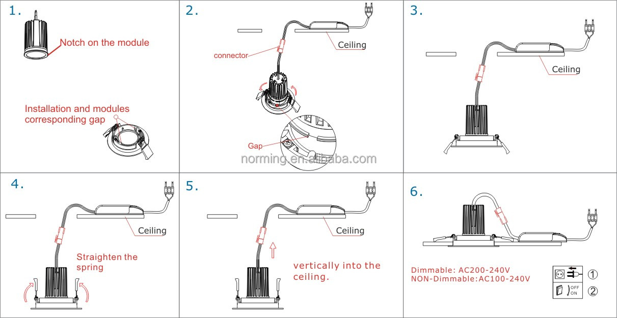 Mr16 gu53 halogen lamps 9w 13w recessed led glass downlight buy 6w installation instruction moduleg asfbconference2016 Image collections