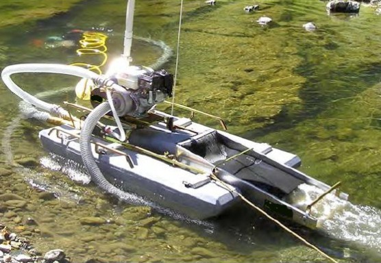 Small Gold Mining Dredges : Portable river mini gold mining dredge for sale view
