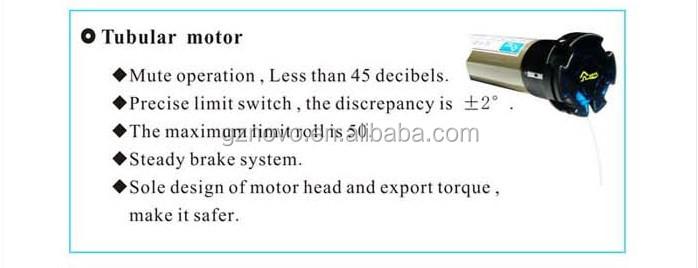 noiseless flat brushless motor for 45mm manual type