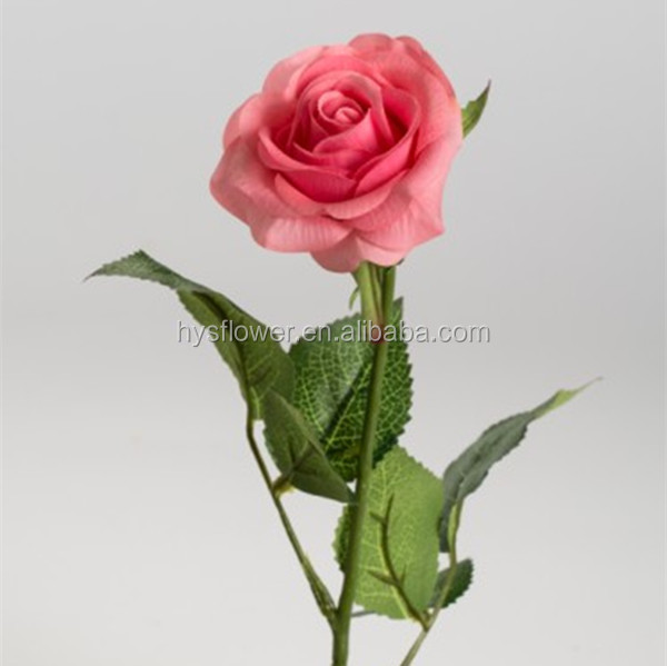 Real touch small pink roseartificial single long stem rose flower real touch small pink rose artificial single long stem rose flower for decoration 13g mightylinksfo