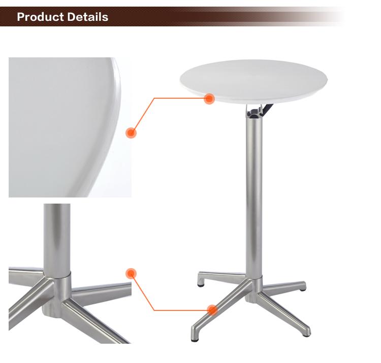 c76 folding abs plastic aluminium height bar table view
