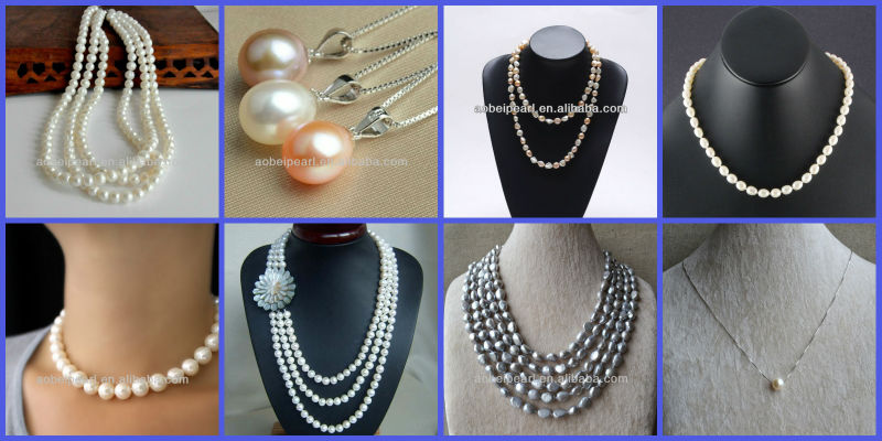 N-AB1164 Alibaba latest fashion designs 2013 pearl necklaces jewelry