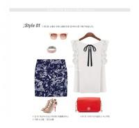 Европейский стиль s-xl новые женские o шеи lotus leaf пуловер Шнуровка блузка бант из шифона рубашку Топ женщин