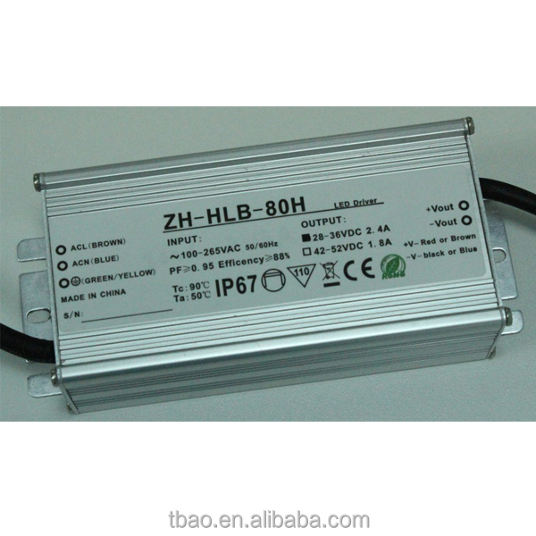 85W 2.4A 36V waterproof IP67 led power supply