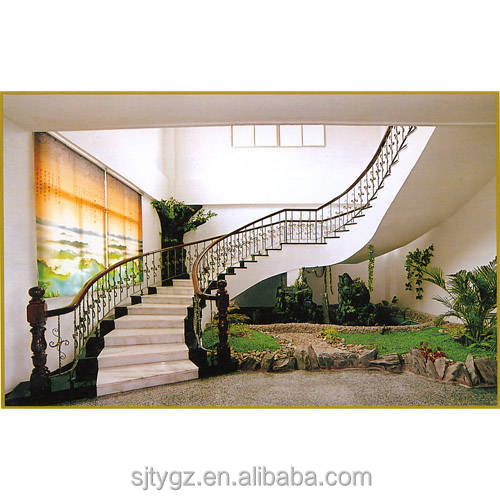 Hot Sales Simple Design Curved Wrought Iron Stair Railings Buy Curved Wrought Iron Stair