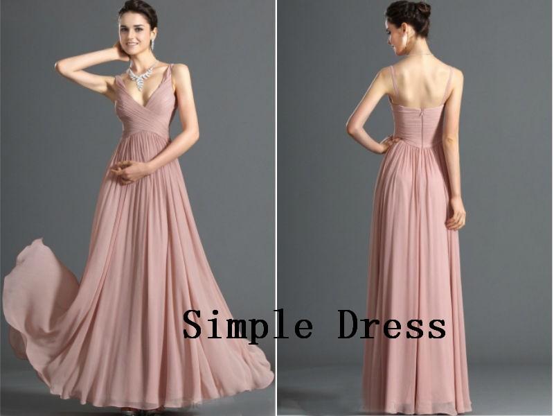 v-neck chiffon dress(1)
