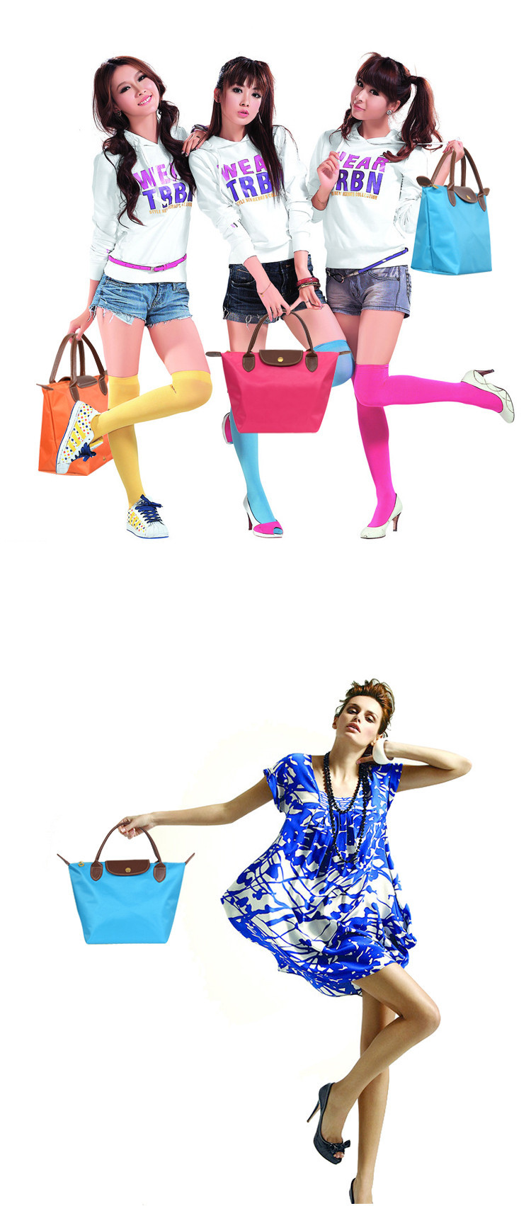 High quality nylon women leather handbags fashion designer for High couture brands