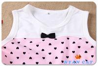 детали о дети летних маленьких девочек платье + 2шт одежда топы набор одежды джинсовый жилет