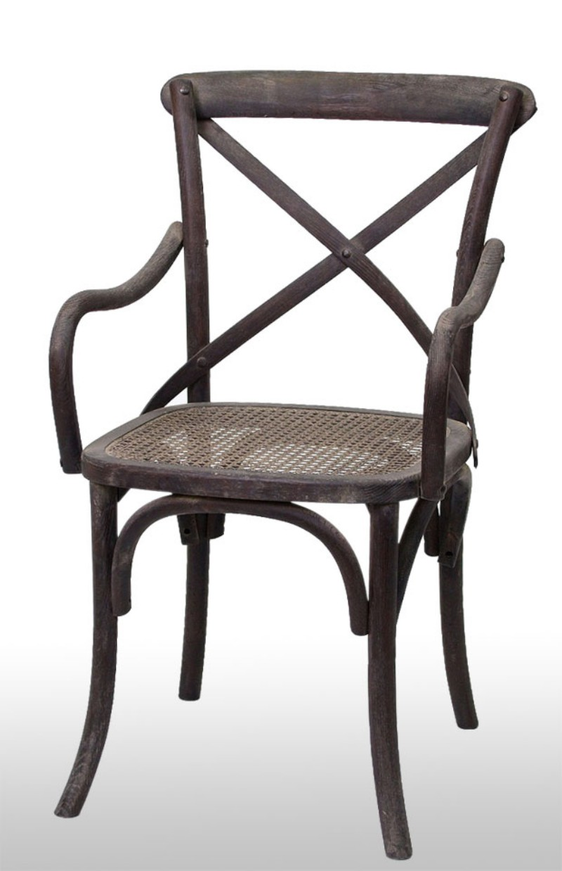 Antique wooden chair with arm back oz