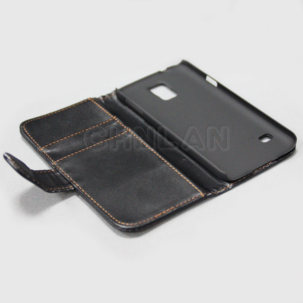 2014 Wholesale Moblie phone accessories for Samsung galaxy s5 hot selling leather wallet case with 2slots