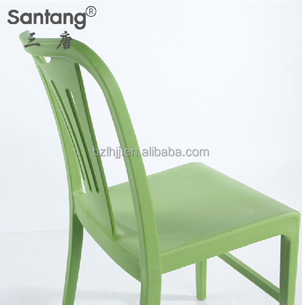 Outdoor Furniture Bright Colored Stacking Padded Plastic Garden Party Chairs