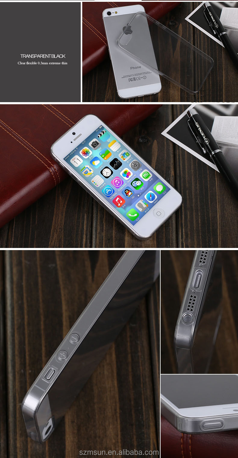 Ultra thin Clear for iPhone case,TPU soft for iphone 5 case cover