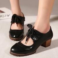 остроконечные toe обувь женщин мода старинный алмаз толстый каблук полуботинок обувь для женщин в толстый каблук
