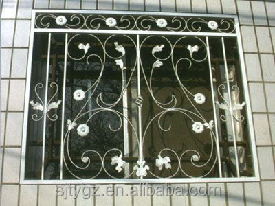 Modern style decorative wrought iron window grill, View decorative