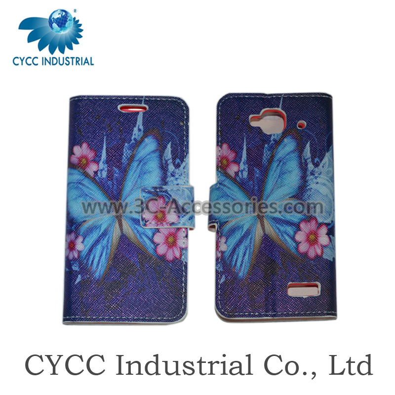 Professional Factory Supply Wholesale Leather Phone Case for Cell Phone for Huawei G610
