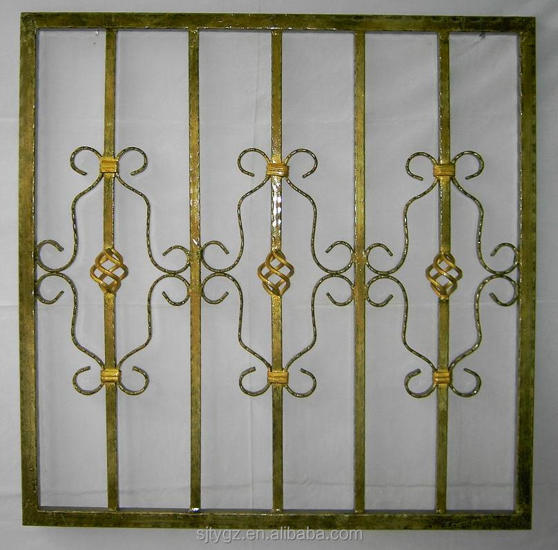 Modern style wrought iron window grill design view design for Modern zen window grills design