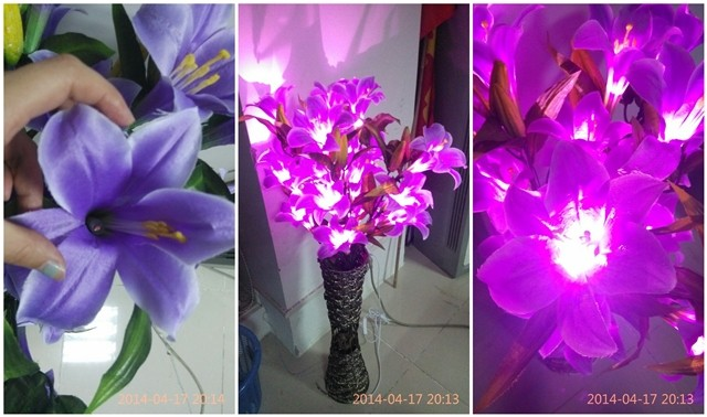 Flower Lights in Vase Light up Artificial Flowers