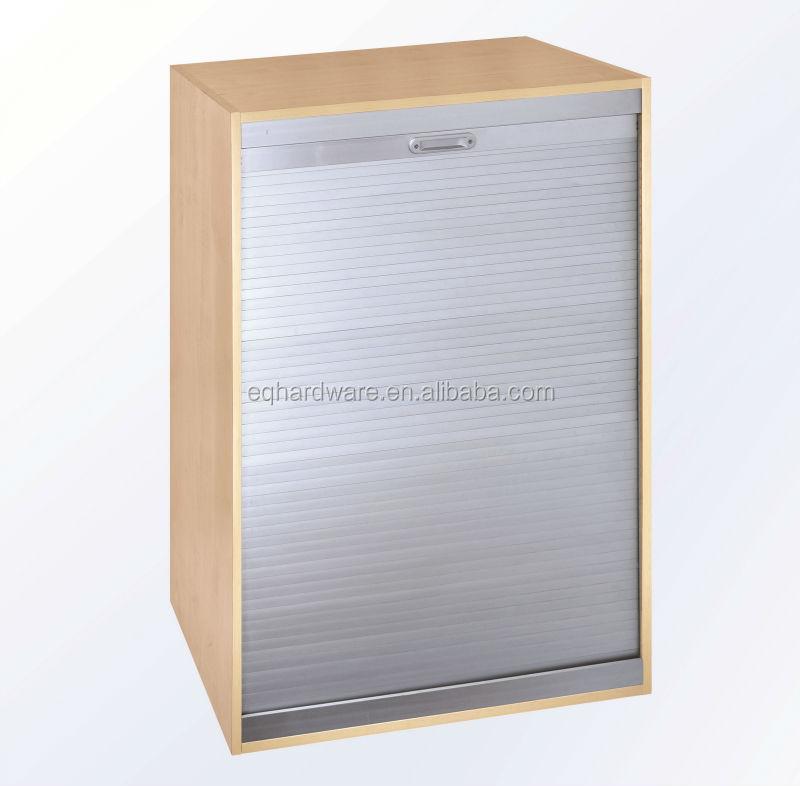 Tambour Kitchen Cabinet Doors: Vertical Or Horizontal Roller Shutter Aluminum Tambour