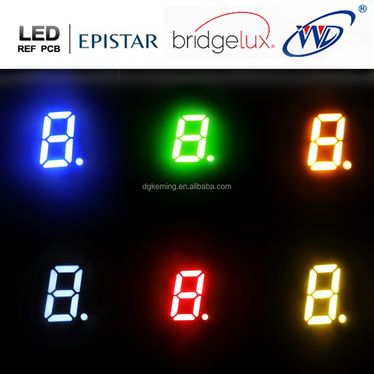 0.3 inch 7 segment led display red mini 7 segment led display