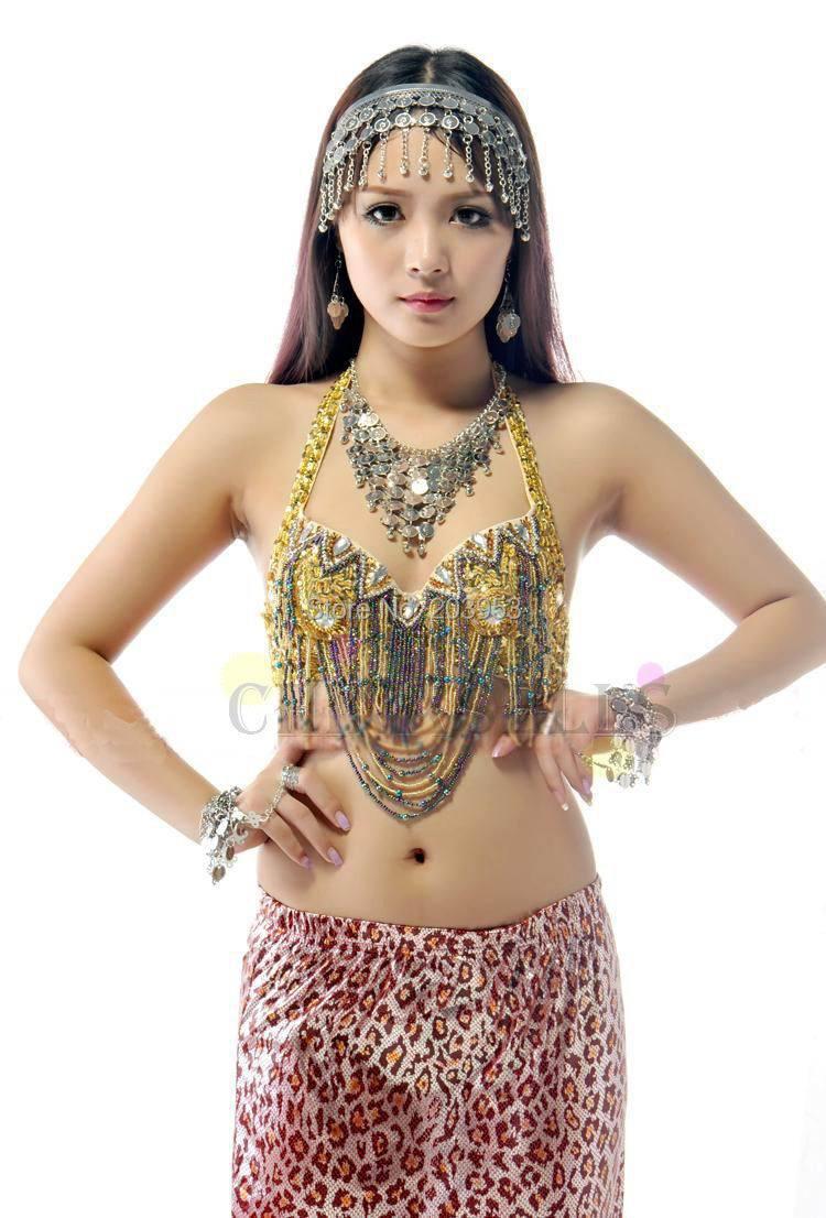 Belly Dance Jewelry Set Head Band Earrings Bracelet Necklace Bridal Jewelry