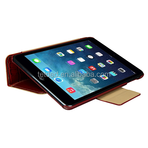 OEM Premium Leather Case for Apple iPad mini with Retina display -- Bellac (Hercules : Burgundy Red/Red Duo Croc)