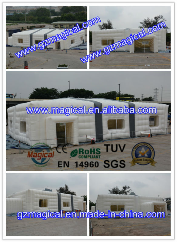 Giant inflatable cube tent structure / large inflatable tent