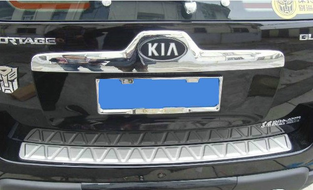 for 2006-2012 KIA Sportage High quality stainless steel Rear bumper Protector Sill