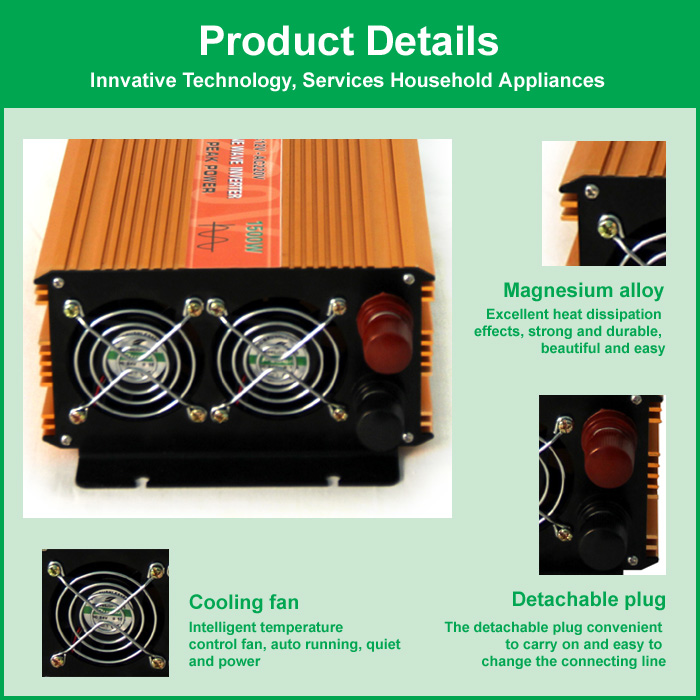1500watts inverter pro sine wave,power inverter dc 12v ac 220v