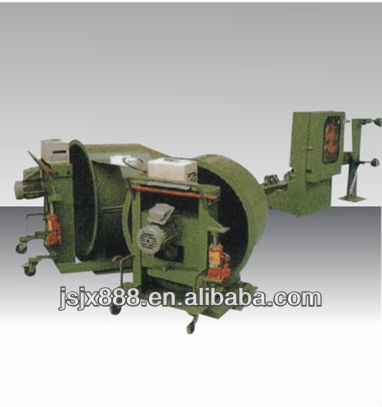 continuous barrel pay-off stand for cable making extrusion line